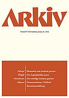 Arkiv. Tidskrift för samhällsanalys logga